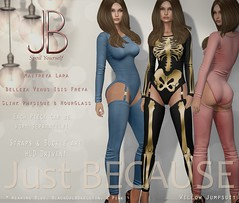 Just BECAUSE - Willow Jumpsuit - Mainstore Release! (Just BECAUSE_SL) Tags: secondlife sl jb just because jumpsuit bodysuit straps buckle skeleton halloween mainstore long sleeve booty leggings