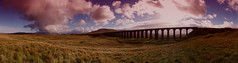 Ribblehead... (Moonbags) Tags: ribblehead viaduct trains valley sonya77 sony sun cloud panoramic pano panorama