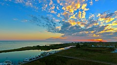 Golden PopCorn Cloud Pops Over Long Island Home Marina At Sunset - IMRAN (ImranAnwar) Tags: 2016 beach boardwalk boating boats clouds dji dock drone dusk eastpatchogue flickr god greatsouthbay imran imrananwar inspiration lake landscape landscapes life lifestyles longisland marina marine memories nature newyork night outdoors panorama patchogue peaceful phantom4 philosophy photoshop red sea seasons sky sun sunset tranquility travel water winter yacht yachting yellow