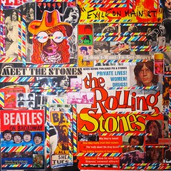 "Christian Montone 2014 Beatles Vs. Stones (Collage 24"" X 36"") Detail 2 (Christian Montone) Tags: art collage artwork graphics montage beatles 1960s 1970s rollingstones montone rockandroll vintagegraphics christianmontone"