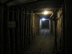 Mercury mine passage with rails, Idrija, Slovenia (Paul McClure DC) Tags: architecture mine mercury quicksilver historic slovenia slovenija primorska idria idrija aug2012