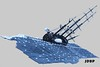 In the eye of a storm (peggyjdb) Tags: sea storm history beagle ship lego charles darwin science british hms britishhistory hmsbeagle