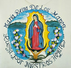 Guadalupe Queen of the Seas Mexico (Ilhuicamina) Tags: art mexico paintings murals mexican oaxaca guadalupe tule
