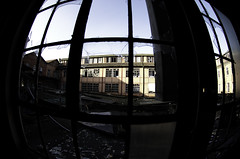 (Nikola Bagarov) Tags: sky building abandoned broken window colors leather architecture computer germany spider scene fabric crime colrful