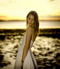 Kate (Peter Cabral Photography) Tags: ocean girls sunset sea summer portrait hot colour sexy art love beach wet girl beautiful beauty fashion canon hair 50mm model glamour pretty photoshoot pacific bokeh kate oz goddess australian australia babe headshot brisbane blond blonde actress qld queensland tropical aussie headshots tropics sunkissed antoncorbijn freepeople canon50mm wellingtonpoint colourportrait canon60d canadiansabroad bestofaustralia portraitcolour girlinsummerdress colorbokeh portraitbokeh blinkagain cabralphotography queenslandsarts