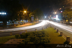 From different angle. Alun-alun Jember (Haris Riz'Q) Tags: road street city longexposure car bulb night canon indonesia landscape eos town downtown cityscape traffic photograph lighttrail jember 1100d momentwarrior kameradslrgw visitjember
