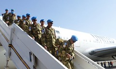 On 21 February 2015, the first batch of the Indonesian Infantry Battalion composed of 268 personnel arrived in El Geneina, West Darfur, to join the AU - UN Mission in Darfur (UNAMID). http://bit.ly/1AxXcMk This is part of the 800 military personnel expect (United Nations Peacekeeping) Tags: west its infantry this is 21 batch military au first el un part assist join mission strength february darfur implementation 800 arrived indonesian mandate boost composed personne