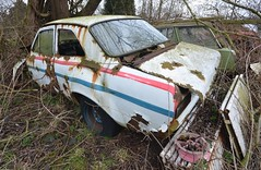 (Sam Tait) Tags: classic ford abandoned cool rally retro special bubble works scrap escort rotted arched mk1