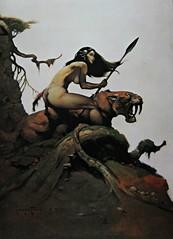Savage Pellucidar (In Memory of ColGould) Tags: painting edgarriceburroughs frankfrazetta savagepellucidar