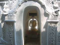 Buddha in a White Abode Mandalay