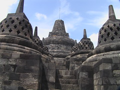 View Up the Passages of Borobudur