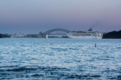 20150306-064407-_DSC5528.jpg (Foster's Lightroom) Tags: moon water boats sydney bridges australia newsouthwales sydneyharbour theatres sydneyoperahouse sydneyharbourbridge harbours cruiseships vaucluse