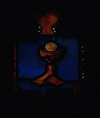 Outwell, Norfolk, St. Clement's church, Beaupr chapel, east window, top row, left (groenling) Tags: uk greatbritain england window britain norfolk stainedglass host gb stainedglasswindow chalice paten stclementschurch norf outwell beauprchapel