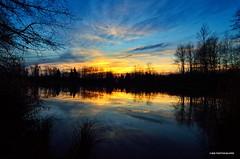 Sunset (JSB PHOTOGRAPHS) Tags: sunset sky water silhouette reflections pond eugeneoregon altonbakerpark autzenstadium dsc3562