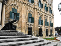 Auberge d'Italie, the Building of the Merchants, Valletta (leonyaakov) Tags: travel sea holiday church boats island catholic malta unesco valletta marculescueugendreamsoflightportal