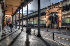 Perdiendo el tiempo (bardaxi) Tags: espaa photoshop contraluz calle spain nikon zaragoza paseo contraste aragon perspectiva hdr tarde photomatix platinumheartaward