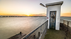 Sunset in Skerries, Dublin, Ireland. (j0sh (www.pixael.com)) Tags: longexposure travel ireland sunset sea sky urban dublin seascape weather clouds landscape geotagged photography pier photo europe sony onsale ultrawide skerries ultrawideangle konicaminolta1735 sonya7