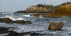 rocky shore 01 (mstkeast) Tags: sea japan    rockyshore  dp3
