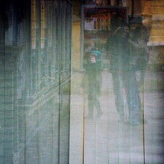 Exhibition.. (Matej Reviliak) Tags: street people reflection texture colors child space meaning buidling paintlike
