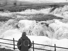 The Great Falls Gorge of the Passaic River, Paterson, New Jersey (jag9889) Tags: park winter blackandwhite bw usa ice waterfall newjersey unitedstates nps unitedstatesofamerica nj landmark gorge paterson icy nationalparkservice gardenstate icycle 2015 passaicriver nationalregisterofhistoricplaces nrhp passaiccounty patersongreatfalls jag9889 20150221