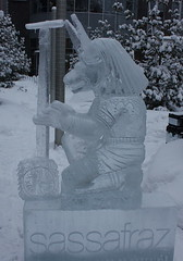 Icefest 23 (codie_horse) Tags: toronto statues talent wintertime yorkville icecarving frozenintime 2015 ancientegyptian blooryorkville 10thyear madeofice 10thannualicefest icefest15 bloorandyorkville