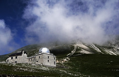 Osservatorio Astronomico Campo Imperatore (fdmphotography) Tags: blue sky italy mountains clouds rocks footpath abruzzo campoimperatore astronomyobservatory