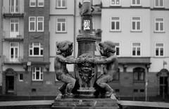 Sculpture (suxarik) Tags: travel bw film monochrome germany 50mm blackwhite europe pentax frankfurt oldschool d76 pentaxmesuper smc ilford ilfordpan400 pentaxa