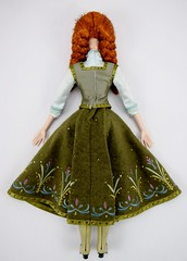2015 Limited Edition Anna 17'' Doll - Frozen - US Disney Store Purchase - Deboxed - Lying Down - Skirt Pleats Closed - Full Rear View (drj1828) Tags: anna green frozen us doll collectible purchase limitededition disneystore 17inch posable 2015 deboxed