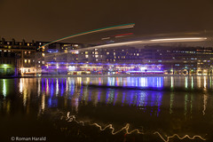 Boat in Boat out (na.harii ) Tags: city longexposure paris france water saint night canon photography eos lights canal photo cityscape martin 5d lighttrails waterscape 5dmkii 5dmk2