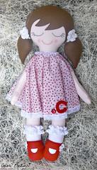 C....Carlotta (Colori Preziosi) Tags: flowers red hearts doll handmade sewing felt ladybug feltro cuori redshoes crochetflowers bonequinha uncinetto bambolina pannolenci