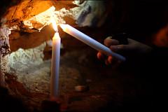 candles are cool (WacsiM) Tags: light urban blur paris canon dark eos 50mm cool candles ledefrance hand bokeh lumire explorer main sombre 75 exploration bougies flou urbex urbaine explorateur 550d