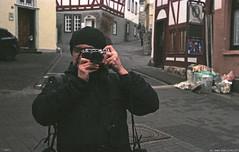 The Holy City of Wetzlar.1 (Adam Fleks) Tags: selfportrait rangefinder scan negative filmcamera wetzlar expiredfilm filmphotography leicaiiif fujisuperia100 summitar analoguephotography nikoncoolscanived