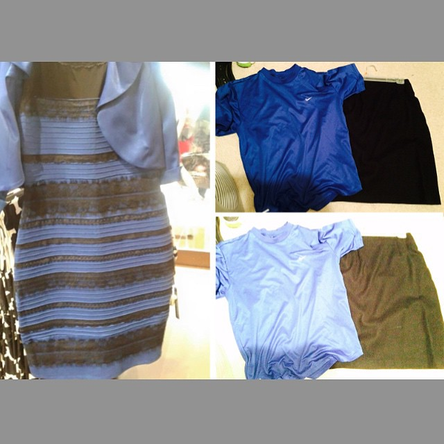 If youve been spending way too much time trying to figure out why the internet world seems to be split between people who see the dress on the left as gold and white and people who insist its black and blue, I am now fairly well convinced, contrary