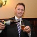 Welcome Buffet, Stephen McNally pours Carrig Beer