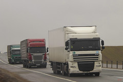 DAF XF105 and Scania R420 and Volvo FH13 Transimeksa (Low_Slow) Tags: by volvo scania daf rus r420 xf105 fh13 м1 transimeksa