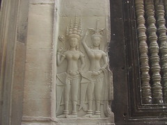 Stone Apsara Carving Angkor Wat