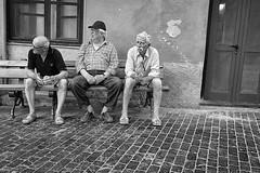 Slow life (p$ychoboyJ@ck) Tags: old bw italy men public bench italia liguria streetphotography bn noli anziani seduti sitted