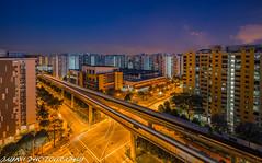 neighborhoodSingapore (jaywu429) Tags: blue sunset sky beautiful skyline zeiss buildings landscape lights singapore nightscape sony bluehour hdb sonycamera 1635mm neighbothood sonya7r