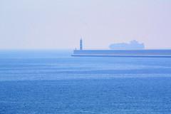 Azules (Anna Royo Verd) Tags: blue sea beach valencia azul puerto playa paisaje aire libre bote azules