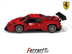 Ferrari 488 GT3 Racer (Maranelle Motorsports Australia) (lego911) Tags: ferrari 488 gtb gt3 gte racer berlinetta coupe racing auto car moc model miniland lego lego911 ldd render cad povray maranello 2016 2010s v8 motorsports