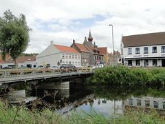 Small town of Damme and the Damse Vaart canal (Joop van Meer) Tags: damme 2016 flanderscoastpath