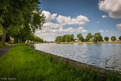 Izegem Along the canal (Hilde Saelens) Tags: water clouds landscape canal belgium belgi westvlaanderen landschap flanders vaart jaagpad izegem