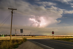 Cars, Lightning and Lines (Striking Photography by Bo Insogna) Tags: sky cloud storm nature rain weather electric night photography colorado energy power dramatic monsoon bolt electricity intersection thunderstorm lightning lightening electrical thunder climate extremeweather thunderbolt severethunderstorms jamesboinsogna