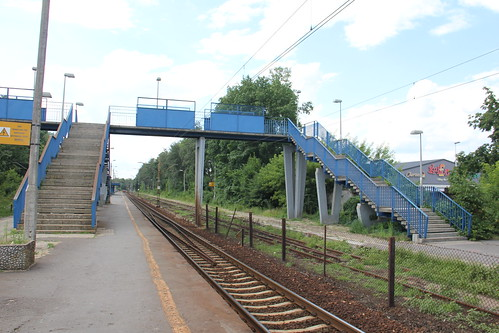 Pedestrian overpass , Celestynów train station 04.07.2016