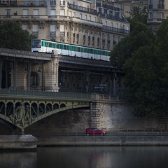 Levels (Michel Couprie) Tags: france paris pont bridge metro train light composition architecture town city ville cityscape seine river canon eos ef3004lis michel couprie car transports