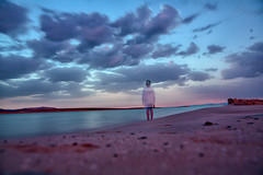 once upon a time in Sardinia~ Italy (~mimo~) Tags: green beach sea mediterranean clouds sunrise boy early morning longexposure travel inspiration mood