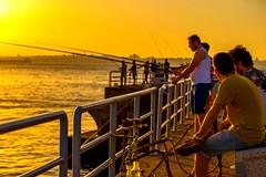 Fisherman (Halil Sopaolu HN I Photography) Tags: sun ship hookah canon halil2016 istanbul kadky modasahili moda beach sea fish people silhouette sunset fisherman