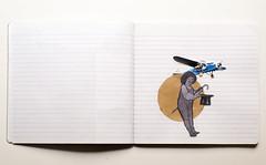 (Laura Febr Diciena) Tags: trip travel viaje hat collage notebook fly flight aeroplane scissors sombrero libreta avin viajar magia pego recortar tijeras aeroplano recortables pegar recorto