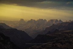 Evening in the Simien Mountains (Pawel A K) Tags: africa sunset mountains landscape nationalpark outdoor ethiopia  simienmountains 2013 theworldthroughourlenses