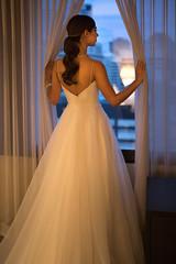 Stephanie (Stelex) Tags: wedding window bride dusk gown weddingdress bridal weddingnight